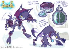 """catfishdeluxe:  More concepts for Ankama's """"Abraca"""" videogame.After the """"Djinn class"""" Krok Hunters here is the """"Wolf class"""" and their mentor : the sadly famous Big Bad Wolf.They live in the very cold forest of winter and are the toughest fighters of Imagi (The fairy tale World). Artworks by Gobi/Baptiste Gaubert and Bill Otomo"""