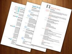 Free CV resume InDesign template 8