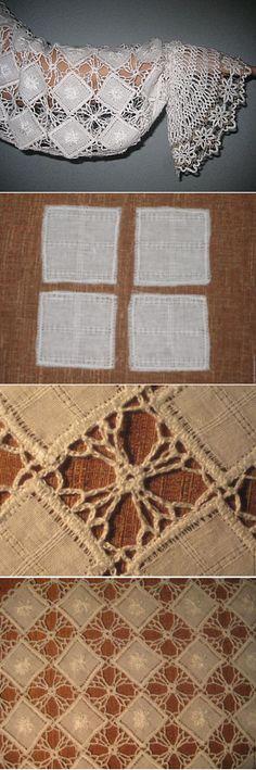 Лоскутно-вязаные рукава для фольклорной рубахи - Ярмарка Мастеров - ручная работа, handmade