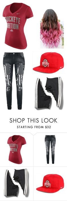"""""""Ohio State Buckeyes"""" by lesley-danae-2003 on Polyvore featuring NIKE and Keds"""