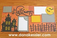 Two Page Artbooking Halloween Scrapbook layout CTMH #ctmh #scrapbooking #scraptabulous