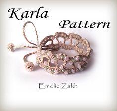 Pattern crochet beaded.Exclusive Pattern. ! PDF file containing instructions for making the crochet bracelet , not  bracelet itself. by Emeliebeads on Etsy https://www.etsy.com/listing/228613988/pattern-crochet-beadedexclusive-pattern