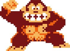 Donkey Kong Pixelated by mususama