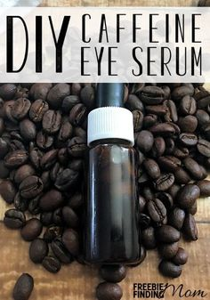 Homemade Eye Serum: DIY Caffeine Eye Serum Are you tired of looking tired? To reduce puffiness and dark circles around your eyes, whip up this all natural homemade eye serum. This homemade beaut Homemade Skin Care, Homemade Beauty Products, Diy Skin Care, Skin Care Tips, Natural Products, Face Scrub Homemade, Beauty Care, Diy Beauty, Beauty Tips