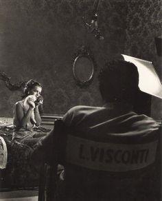 """Luchino Visconti and Romy Schneider sul set di """"Boccaccio 70"""""""