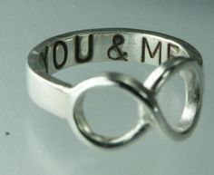 you & me infinity ring. WE LOVE!