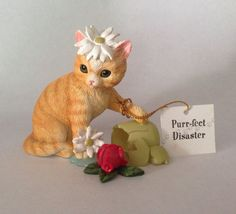 Little Cat Astrophies Cat Figurine Purr fect Disaster Hamilton Collection | eBay