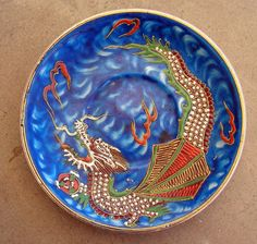 Vintage Porcelain Saucer Chinese DRAGON Hand by retrosideshow, $20.00