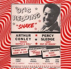 Percy Sledge, Otis Redding, Soul Train, Near To You, Sweet Soul, Soul Music, American Singers, Vintage Posters, You And I