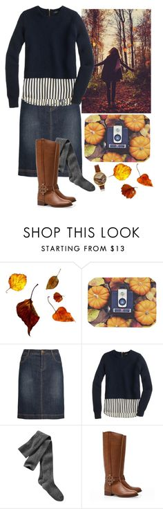"""Comfy Fall Outfit"" by deepforestdust ❤ liked on Polyvore featuring Kess InHouse, GE, Seasalt, J.Crew, Gap, Tory Burch and Olivia Burton"