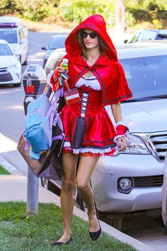Alessandra Ambrosio as Little Red Riding Hood - The Best Celebrity Halloween…