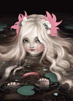 ☆ Ophelia, in Whiskers :¦: Artist Lisa Falzon ☆