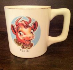 Advertising mugs for the Borden Milk Company.  There was Elmer, Elsie, Beulah, and Beauregard.