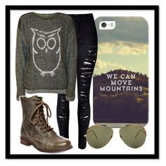 """We can move mountains"" by carenza-spence on Polyvore featuring Casetify, WithChic, WearAll, Steve Madden and Linda Farrow"