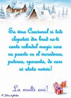 Să vină Crăciunul și toți clopoțeii din brad să-ți cânte colindul magic care să poarte cu el încrederea, puterea, speranța, de care ai atată nevoie! Christmas Greetings, Merry Christmas, Diy And Crafts, Crafts For Kids, Winter Scenery, Holidays And Events, Vintage Christmas, Greeting Cards, Anul Nou