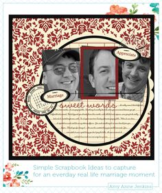 Simple Scrapbook Ideas for capturing love and marriage