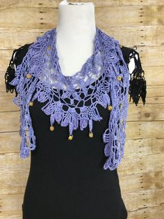 Beaded Lila Necklace Scarf Free Crochet Pattern — Kristin Omdahl