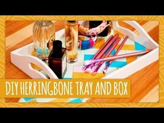 ▶ DIY Herringbone Box and Tray - HGTV Handmade - YouTube.  a great idea is to use dollar store trays and boxes and spruce them up as gifts or for around your home!