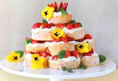 Kääretorttu-pyramidikakku Birthday Cake, Desserts, Food, Mascarpone, Tailgate Desserts, Deserts, Birthday Cakes, Essen, Postres