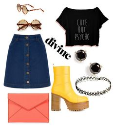 """""""Untitled #129"""" by myriamsarah on Polyvore featuring Marni, Oasis, Rebecca Minkoff, Kate Spade and Cutler and Gross"""