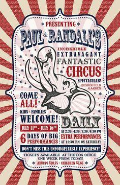 Vintage Circus Poster Design