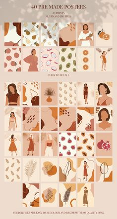 Summer Neutrals Graphic Collection by decentchaos on Ed Wallpaper, Graphic Wallpaper, Iphone Wallpaper, Small Canvas Art, Diy Canvas Art, Diy Wall Art, Art Minimaliste, Minimal Art, Aesthetic Stickers