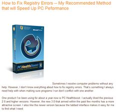 Sometimes finding a solution to your computer problems is closer than you think. Fix registry errors before calling an expensive repair person.