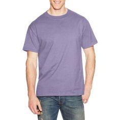 Hanes Men's Beefy Short Sleeve T-shirt, Size: XL, Purple