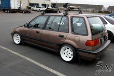 Slammed Civic Wagon