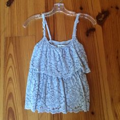 Grey Floral tank Super cute and comfy, hardly ever worn Abercrombie & Fitch Tops Tank Tops