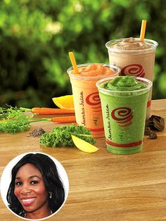Kale Orange Power Recipe courtesy of Jamba Juice Makes 1  1 cup of freshly squeezed orange juice ½ cup of fresh kale (washed well) or frozen...