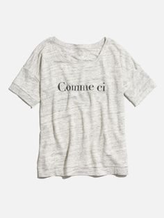 madewell comme ci comme ça banded tee