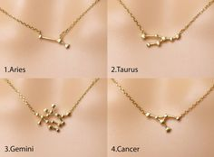 Zodiac signs necklaces