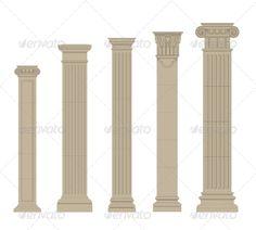 Set of Columns set of greece column and pilasters vector Created: GraphicsFilesIncluded: JPGImage Layered: No MinimumAdobeCSVersion: CS Tags: Architecture Concept Drawings, Baroque Architecture, Classical Architecture, Architecture Details, Home Library Design, House Design, Fiberglass Columns, Columns Decor, Pedestal