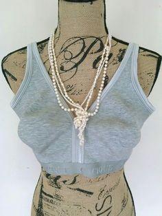 Cacique Lane Bryant Gray No Wire No Padding Comfort Sports Style Cotton Bra 44D #Cacique #SportsBras