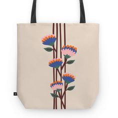 Bolsa Henri Flowers do Studio Caligrafica por R$78,00