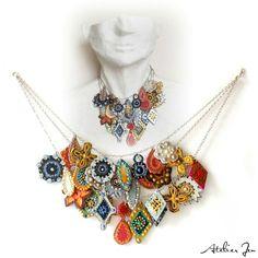 One off statement necklace by Atelier Jen follow on instagram - @atelierjen
