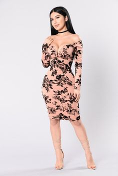 Growing Addiction Dress - Mauve