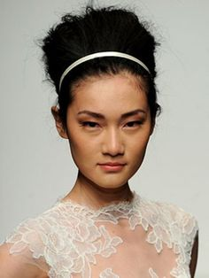 Model with Bouffant Hairdo from Christos Spring 2013 Bridal Show. Photo by MCV Photo