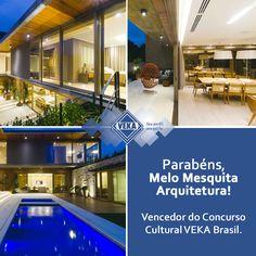Parabéns ao vencedor do Concurso Cultural VEKA Brasil - 3ª edição. Escritório Melo Mesquita Arquitetura de Florianópolis.