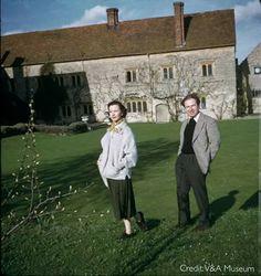 Vivien Leigh and Peter Brook at Notley Abbey.1954. #History #NotleyAbbey #BijouWeddingVenues