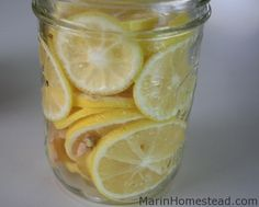 Lemon Ginger Honey Tea - good for sore throats and other things that ail you!