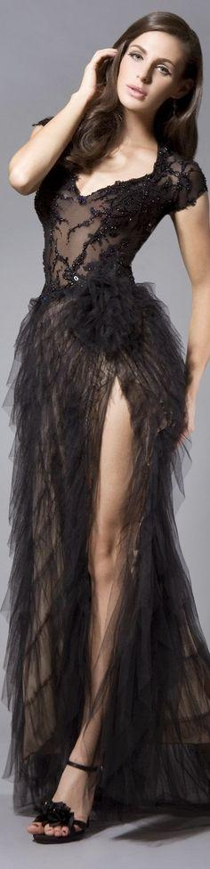 Black gown - organza