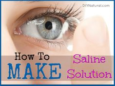 Saline solution has so many uses! It's not limited to eye and contact lens care, saline solution can also be used for wound irrigation and as a nasal rinse. The best part is you can make your own easily!