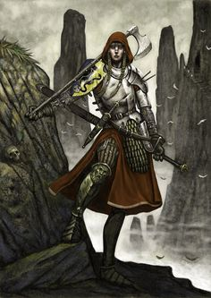 wastelandwanderling:meanwhilebackinthedungeon:  — john wigley  Always reblog women in functional armor!