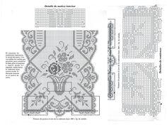 MIRIA CROCHÊS E PINTURAS: CAMINHOS DE MESA DE CROCHÊ FILÉ N° N°329