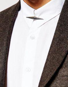 Image 1 of ASOS Collar Bar In Silver