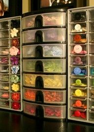 small embellishment storage @CraftStorageIdeas