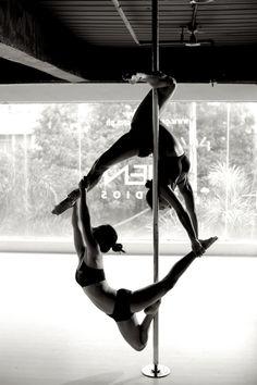 Pole doubles gemini hang