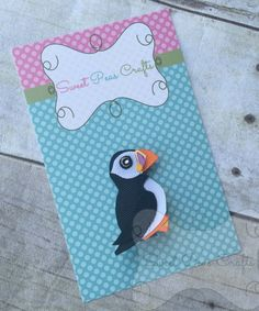 Puffin Hair Bow Clip Pin Sculpture by MySweetPeasCrafts on Etsy